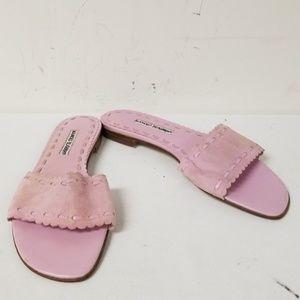 Manolo Blahnik Pink Slide On Sandals Size 40.5